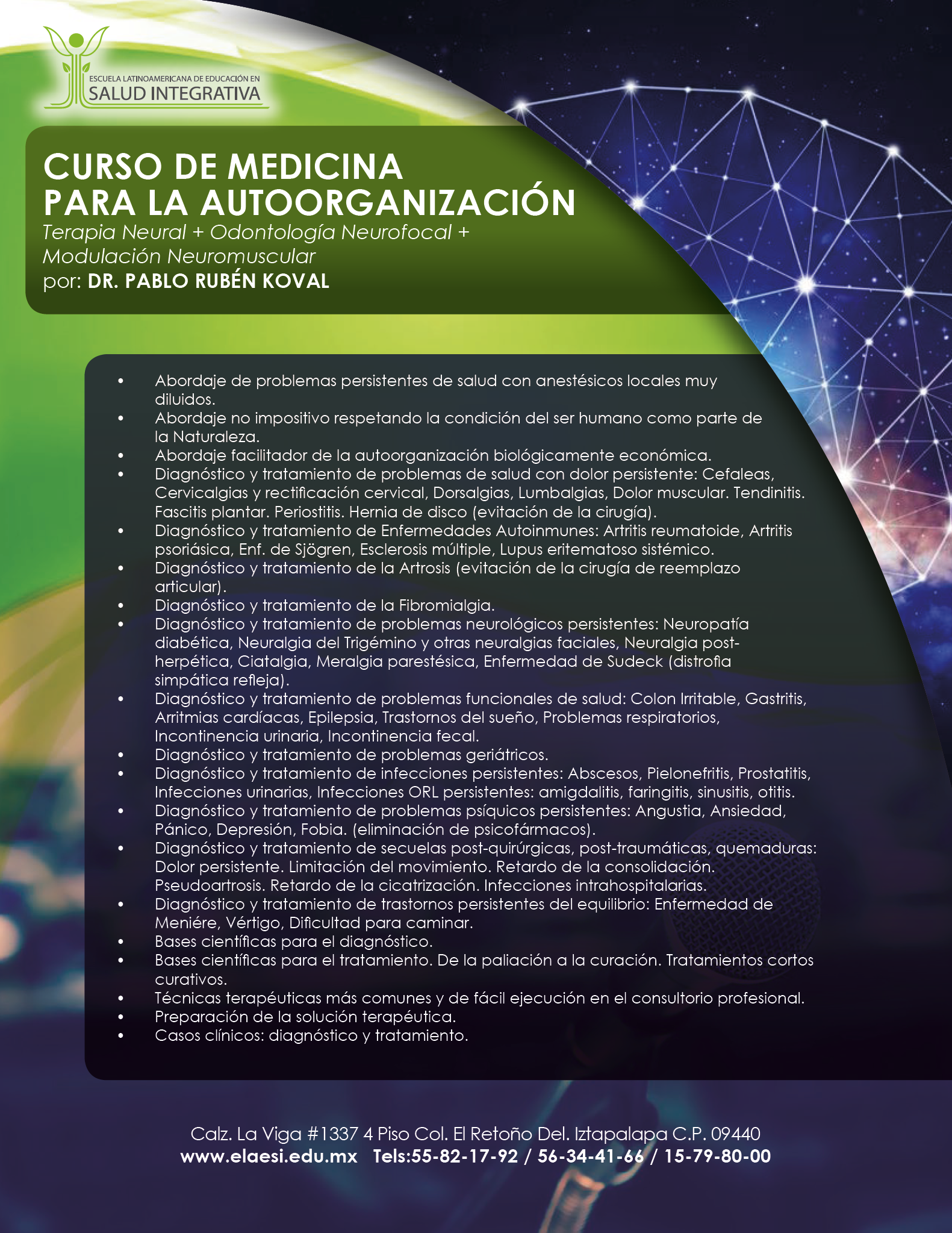 CURSO DE MEDICINA PARA LA AUTOORGANIZACIÓN