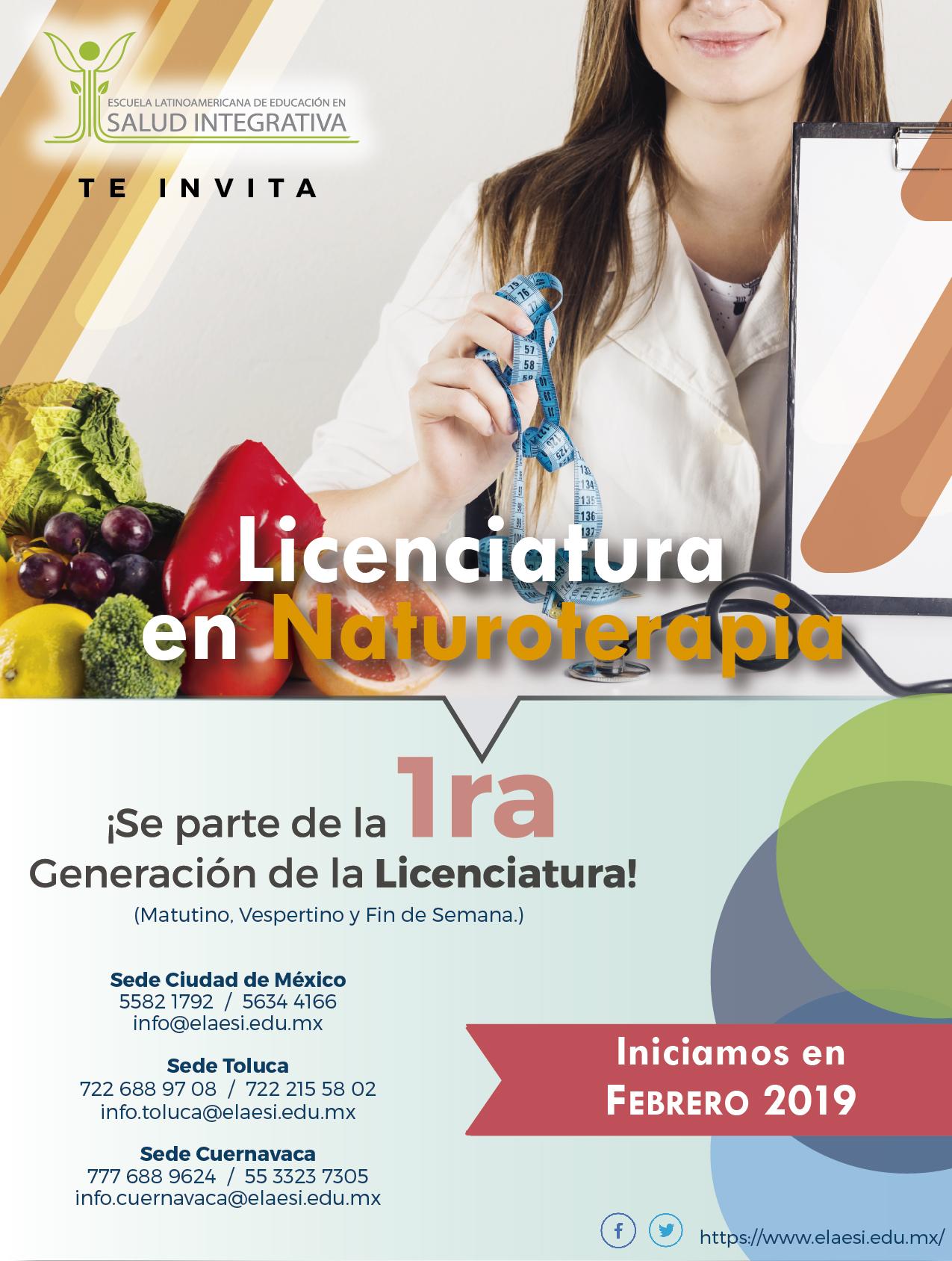 Nueva Licenciatura en naturoterapia. ELAESI